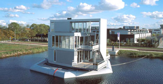floating houses in the Netherlands
