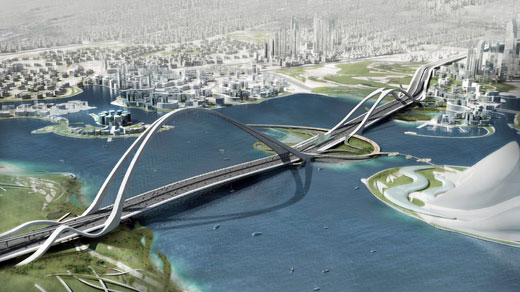 The Next Worlds' Largest Arch Bridge in Dubai