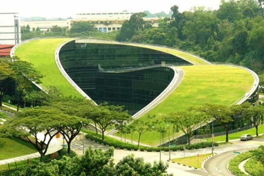 Organic Roof at Nanyang Technology University in Singapore