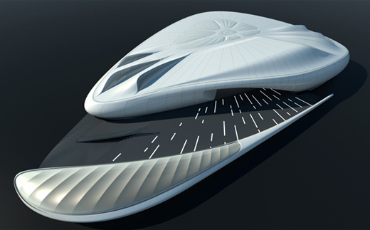Mobile Art Chanel Contemporary Art Container By Zaha Hadid