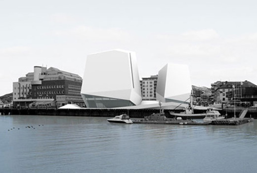 new library and concert hall at Bodø in Norway.