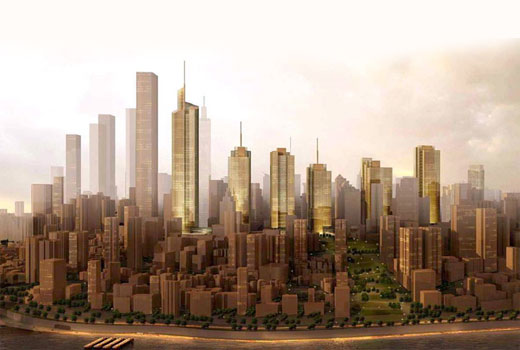 KPF Plan Wall Street Of Chongqing