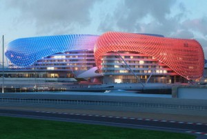 The Yas Hotel in Abu Dhabi