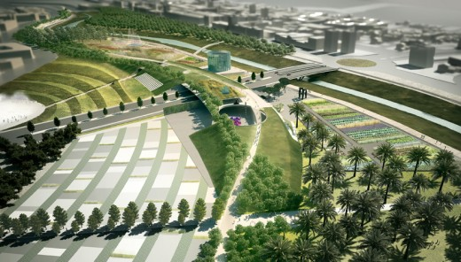 Master Plan for 100-Acre Parque de Levante in Murcia, Spain / by K/R Architects