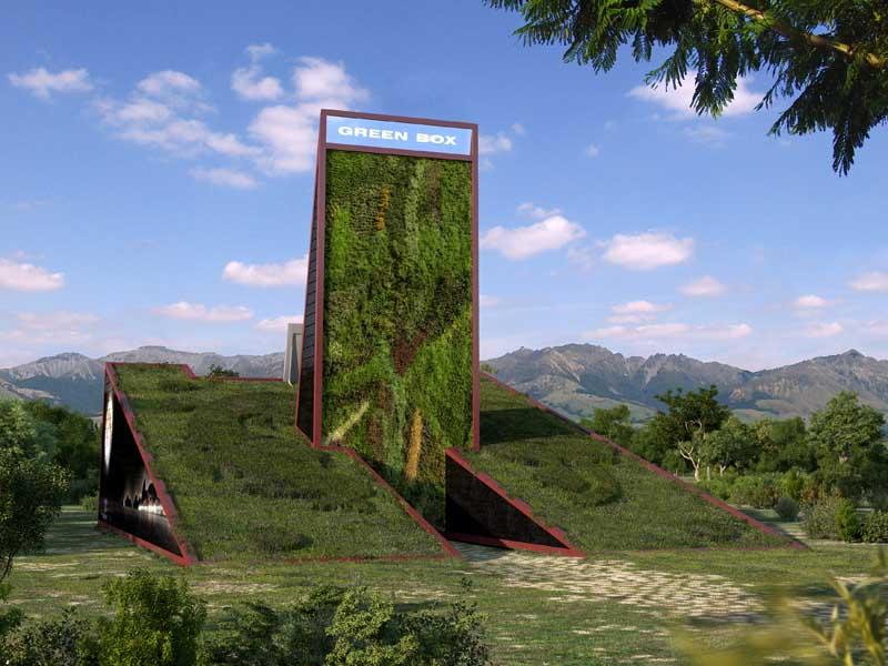 Green Box Architecture artificial nature architecture by luís de garrido architecture