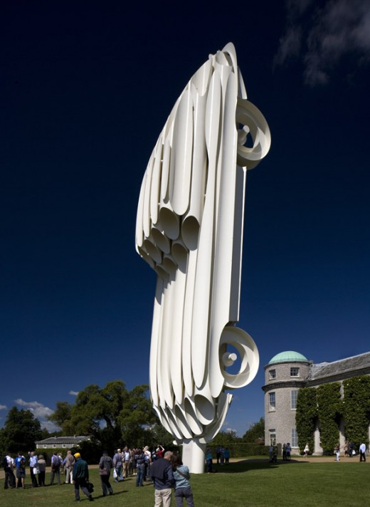 jaguar e-type sculpture - goodwood festival of speed 2011 / by Gerry Judah