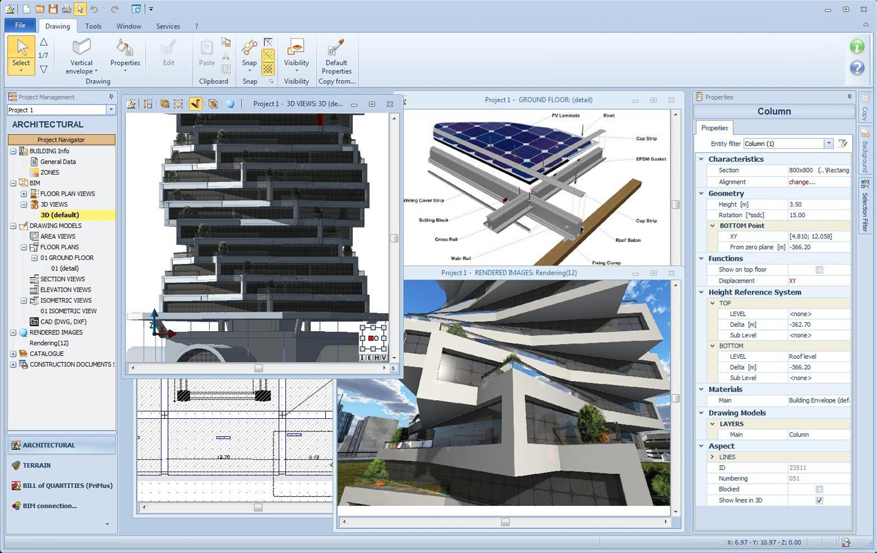 free upp: architectural bim design and bills of quantities