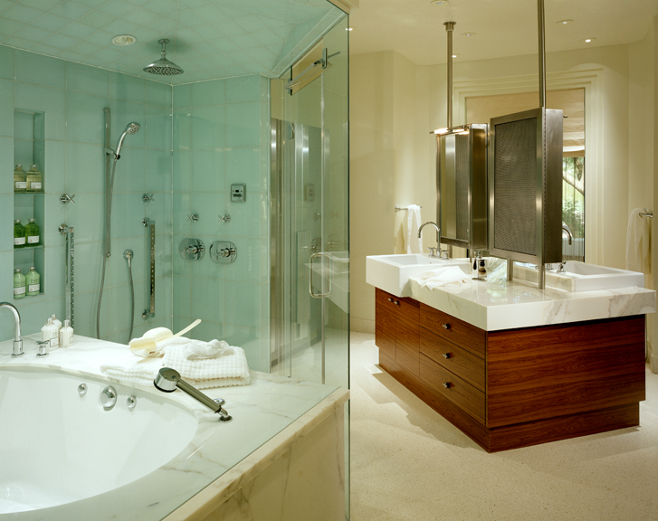 Master Bath Overall - The Enclave by Jamie Herzlinger Interiors