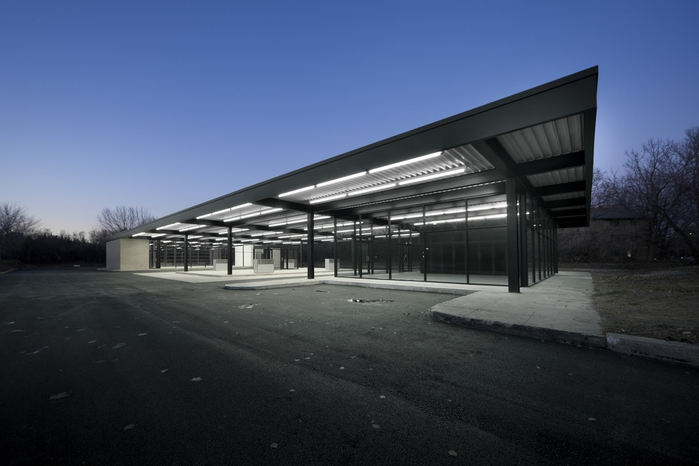 Conversion of Mies Van Der Rohe Gas Station on Nuns Island / by Les Architectes FABG