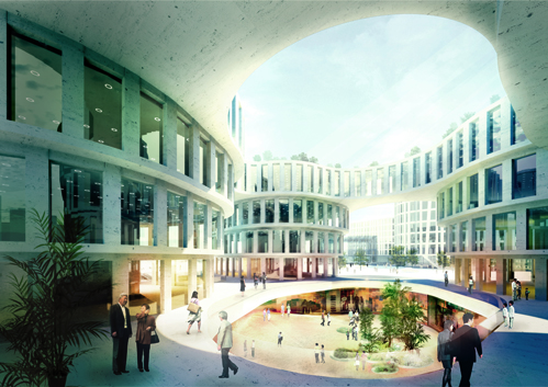 Central Business District at Shangha Hongqiao Airport / by MVRDV
